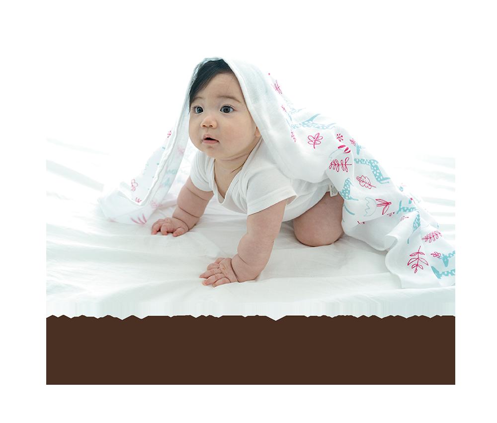 花園長頸鹿三層紗紗布巾-商品描述